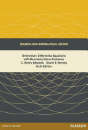 Elementary Differential Equations with Boundary Value Problems  Pearson New International Edition