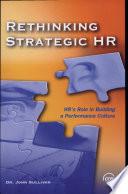 Rethinking Strategic HR
