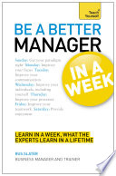 Be A Better Manager In A Week Teach Yourself Ebook Epub