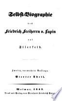 Selbst-Biographie des Friedrich Freiherrn v. Lupin auf Illerfeld