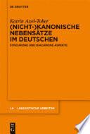 (Nicht-)kanonische Nebensätze im Deutschen