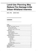 Land Use Planning May Reduce Fire Damage In The Urban Wildland Intermix book