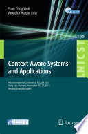 Context Aware Systems and Applications