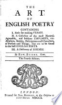 The Art of English Poetry Containing