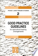 Good Practice Guidelines For Agricultural Leasing Arrangements