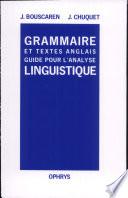Grammaire et textes anglais