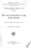 Milk And Its Relation To The Public Health