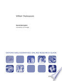 William Shakespeare  Oxford Bibliographies Online Research Guide