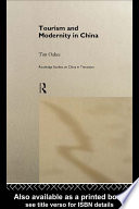 Tourism And Modernity In China book