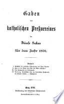 Gaben des katholischen Preßvereines der Diöcese Seckau