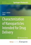 Characterization of Nanoparticles Intended for Drug Delivery