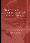 Improving comprehension instruction