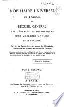 Nobiliaire universel de France