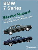 Bmw 7 Series E32 Service Manual 1988 1989 1990 1991 1992 1993 1994
