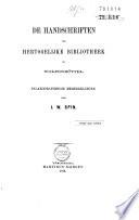 De Handschriften der hertogelijke bibliotheek te Wolfenbüttel