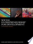 Social Entrepreneurship for Development By Bridging The Fields Of International Development And