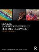 Social Entrepreneurship for Development Book