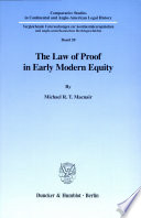 The Law of Proof in Early Modern Equity