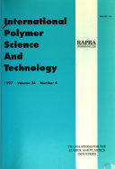 International Polymer Science And Technology : ...