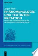 Phänomenologie und Textinterpretation