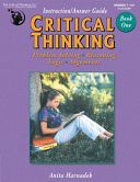 Critical Thinking Book One   Instruction Answer Guide