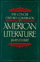 The concise Oxford companion to American literature