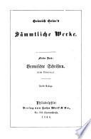 Heinrich Heine s s  mmtliche werke