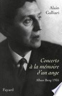 Concerto    la m  moire d un ange  Alban Berg 1935