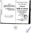 Nouveau manuel complet du fabricant de papiers de fantaisie