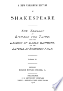 The Tragedy of Richard III, with the Landing of Earle Richmond, and the Battell at Bosworth Field