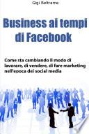 Business ai tempi di Facebook   prima edizione
