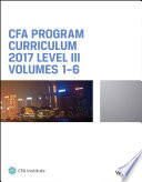 CFA Program Curriculum 2017 Level III