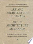 Art and architecture in Canada a bibliography and guide to the literature to 1981