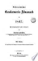 Gendarmerie-Almanach. Hrsg. und red. von Friedrich Ehrenstein