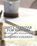 2017 Calendar for Writers