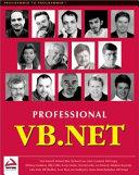 Professional Vb Net book