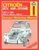 Citroen 2cv Owner S Workshop Manual