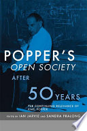 Popper s Open Society After Fifty Years