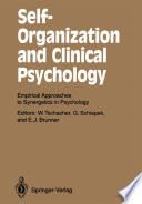 Self Organization and Clinical Psychology