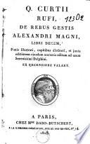 De rebus gestis Alexandri Magni