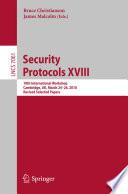 Security Protocols XVIII