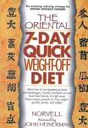 Oriental Seven day Quick Weight off Diet