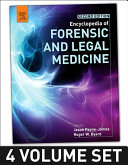Encyclopedia Of Forensic And Legal Medicine : is a pioneering four volume encyclopedia compiled...