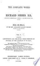 Book The Complete Works of Richard Sibbes  D D