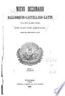 Nuevo Diccionario Mallorquin Castellano Latin