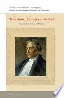 Terrorisme Europa En Strafrecht