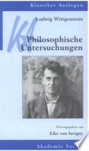 Ludwig Wittgenstein  Philosophische Untersuchungen