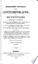 Biographie nouvelle des contemporains  1787 1820