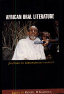 African Oral Literature Perceived By Some As Anachronistic To The Modern