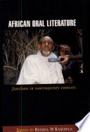 African Oral Literature Perceived By Some As Anachronistic